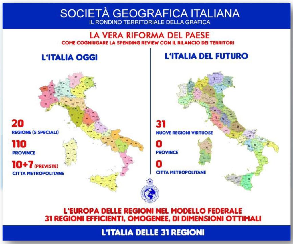 Italia delle 31 regioni